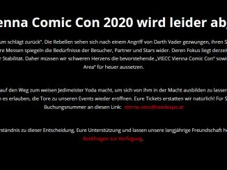 Die Vienna Comic Con 2020 wird leider abgesagt
