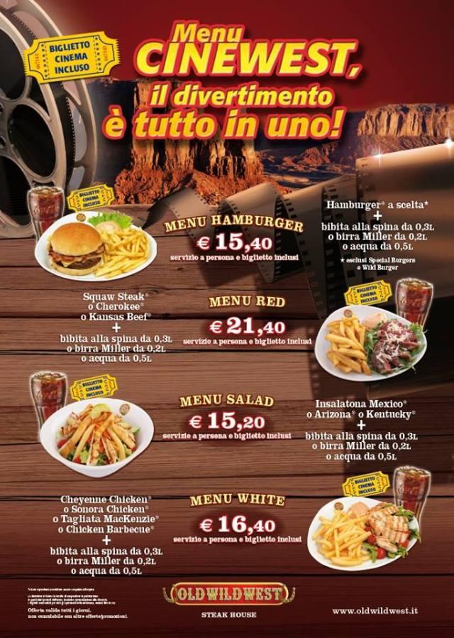 menu cinewest