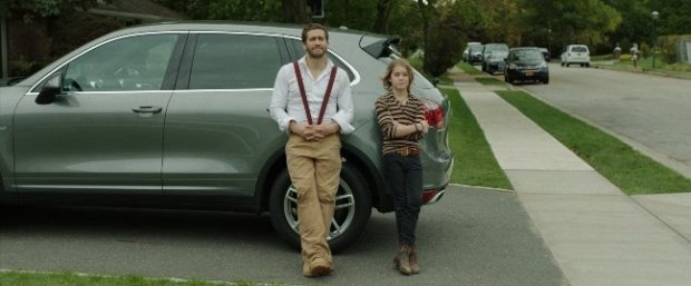 Judah Lewis (right) plays Chris, partner in destruction to Gyllenhaal's Davis