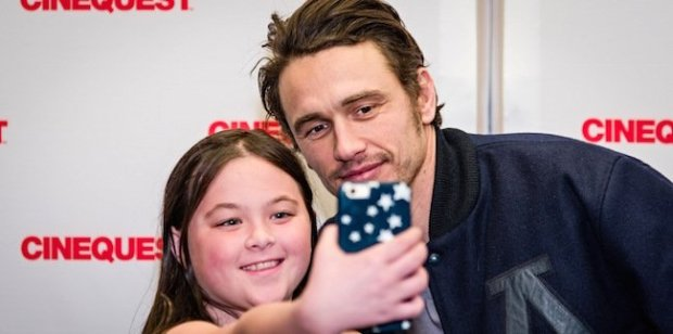 James Franco takes selfies with Cinequest youth. Courtesy of Cinequest.