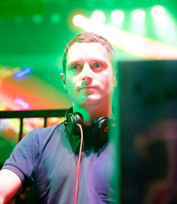 DJ Elijah Wood at the inaugural FilmQuest Festival, 2014