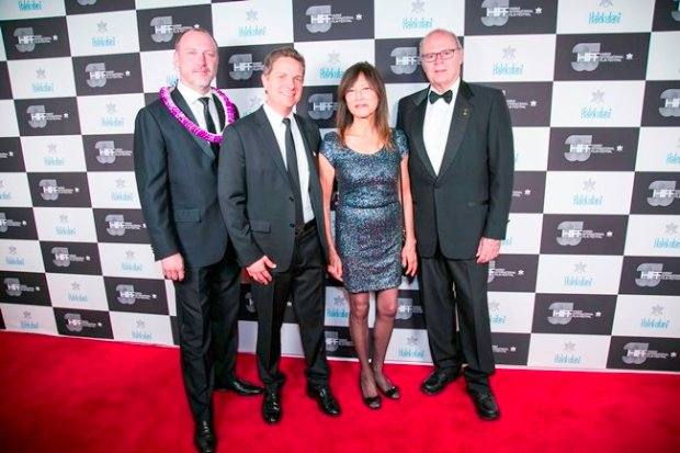 HIFF executive director Robert Lambeth, Freida Lee Mock, James Moll, and Nate Kohn