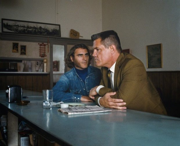 Joaquin Phoenix and Josh Brolin in Inherent Vice. Courtesy of Warner Bros. Pictures