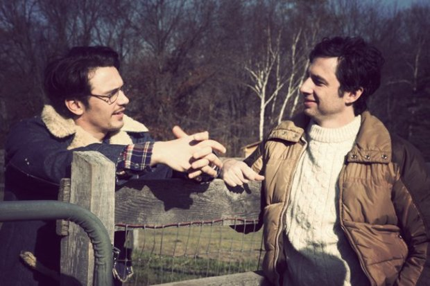 James Franco waxes poetic with Zach Braff in The Color of Time.