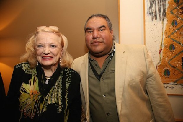 "Gena Rowlands and Chris-Eyre, director of ""Smoke Signals."" Courtesy of Santa Fe."