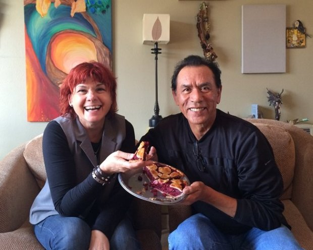 """Jane Rosemont and Wes Studi of """"Pie Lady of Pie Town."""" Courtesy of Jane Rosemont"""