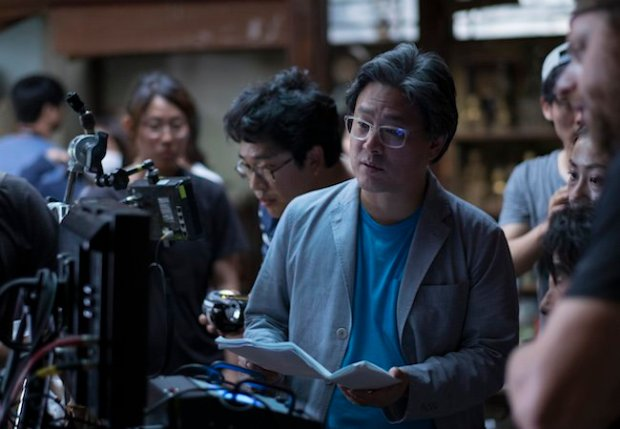 Director Park Chan-wook on the set of The Handmaiden, an Amazon Studios/Magnolia Pictures release. Photo courtesy of Amazon Studios/Magnolia Pictures.