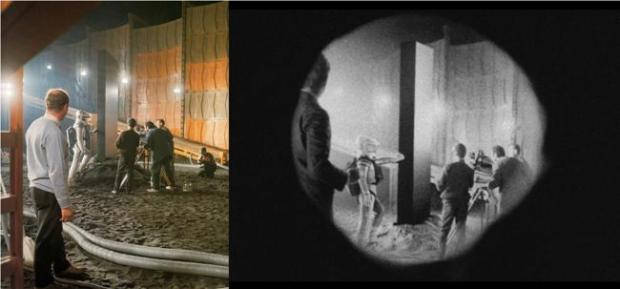 Stanley Kubrick on the set of 2001: A Space Odyssey, Operation Avalanche's VFX supervisor Tristan Zerafa placed fictional characters into historical sets