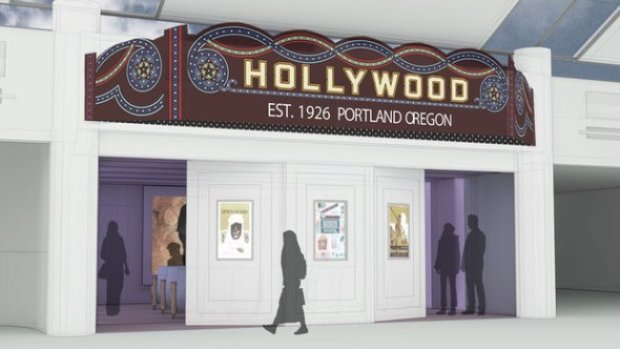 An artist's rendering of the soon-to-open PDX branch of the Hollywood. Courtesy of the Hollywood Theatre