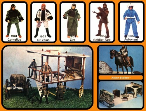 Mego's Planet of the Apes range included some elaborate playsets