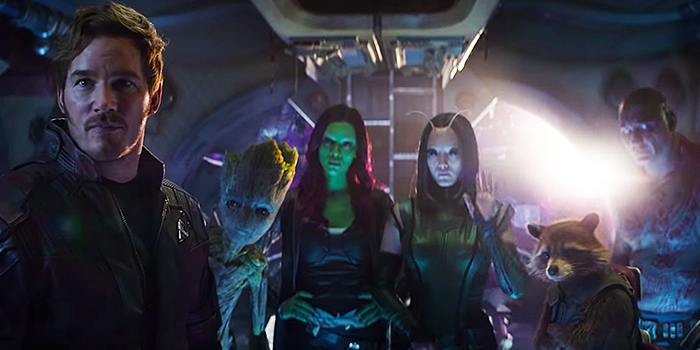 Guardians of the Galaxy in Infinity War