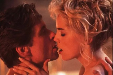 Sharon Stone & Michael Douglas in Basic Instinct