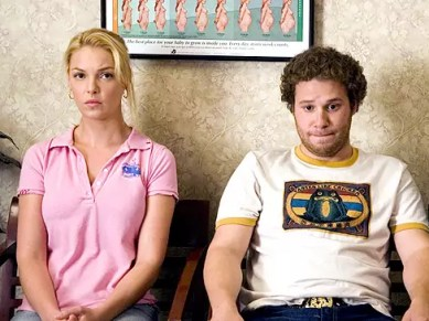 Katherine Heigl en Seth Rogen in Knocked Up