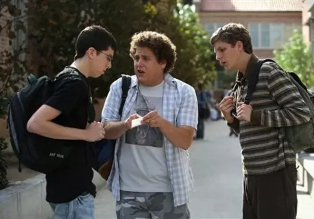Jonah Hill, Michael Cera en Christopher Mintz-Plasse in Superbad