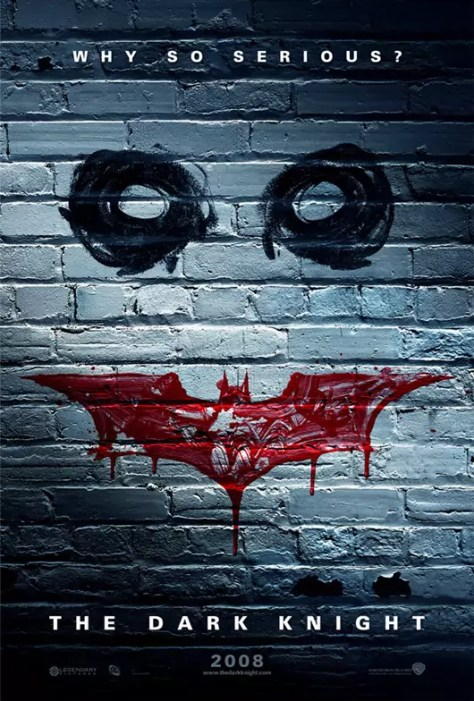 Why so serious poster van de nieuwe Batman film The Dark Knight