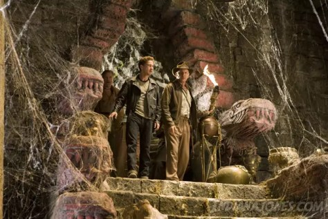 Harrison Ford en Shia LaBeouf in Indiana Jones and The Kingdom Of The Crystal Skull
