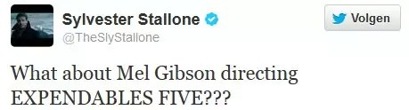 sylvester stallone twitter mel gibson expendables 3