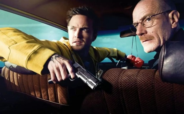 Aaron Paul en Bryan Cranston in Breaking Bad