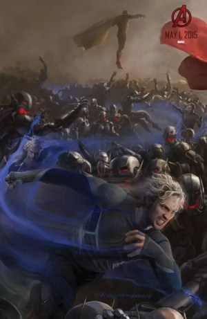 The Avengers 2: Age of Ultron – Quicksilver & The Vision concept art poster