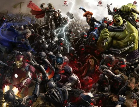 The Avengers vs. Ultron wallpaper
