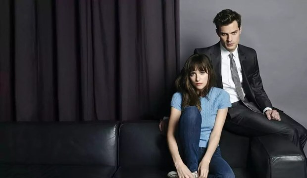 Dakota Johnson & Jamie Dornan in Fifty Shades of Grey