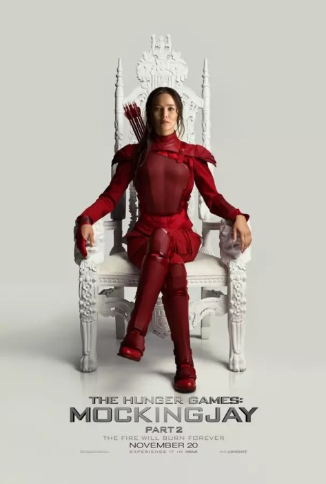 Jennifer Lawrence als Katniss Everdeen in The Hunger Games: Mockingjay - Part 2 poster