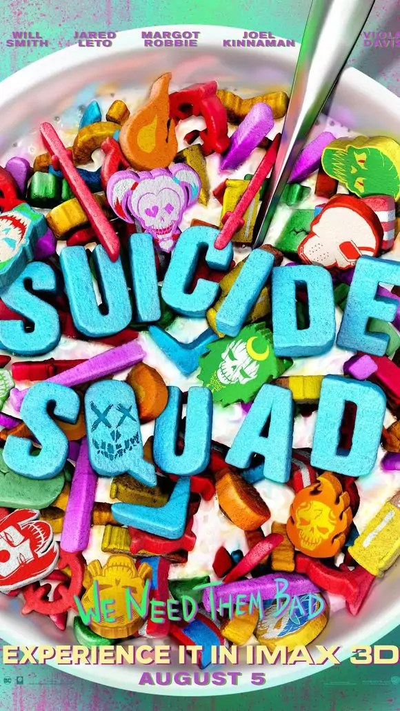 Suicide Squad We Need Them Bad poster