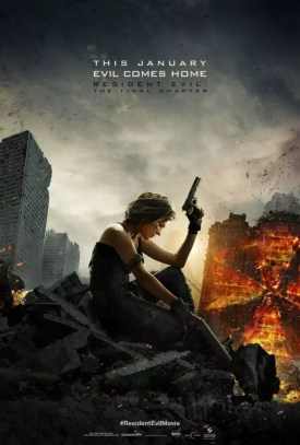 Eerste Amerikaanse Resident Evil The Final Chapter poster