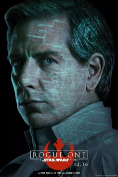 Star Wars Rogue One karakterposter met Ben Mendelsohn als Director Orson Krennic