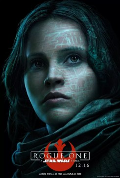 Star Wars Rogue One karakterposter met Felicity Jones als Jyn Erso