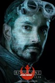 Star Wars Rogue One karakterposter met Riz Ahmed als Bodhi Rook