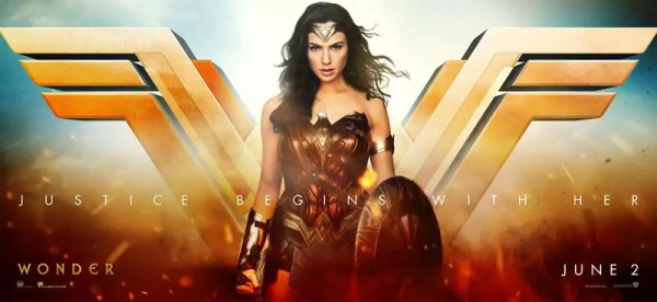 Wonder Woman Justice Begins with Her banner