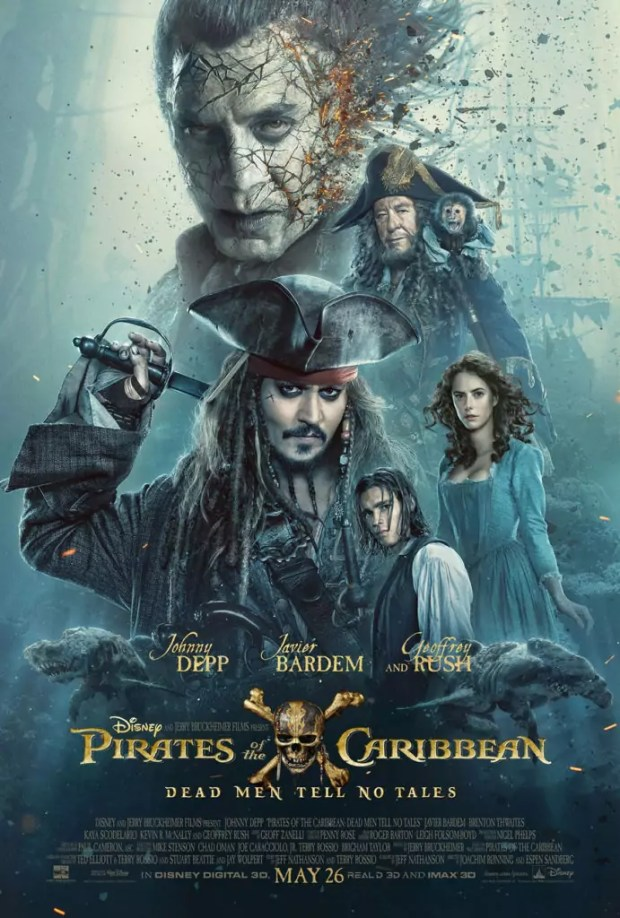 Eerste kijk op Javier Bardem in Pirates of the Carribean Dead Men Tell No Tales poster