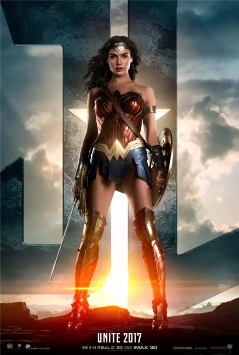 Justice League karakterposters - Gal Gadot - Wonder Woman