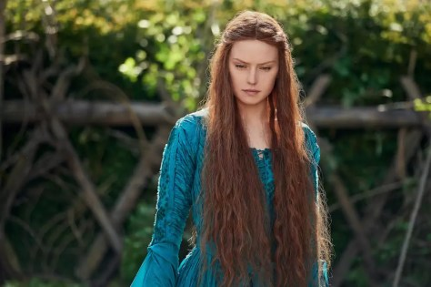 Dit is Daisy Ridley als Shakespeare's Ophelia