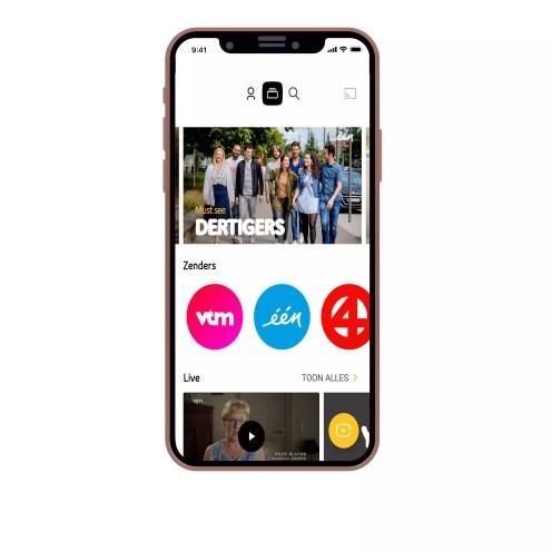 Telenet YUGO interface - homepage - zenderpakket