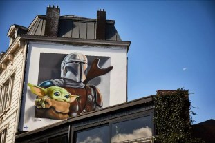 Disney Plus graffiti in Antwerpen