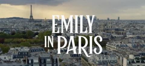 Emily in Paris met Lily Collins Netflix logo