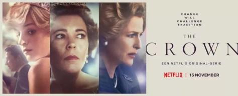 The Crown S4 banner op Netflix België