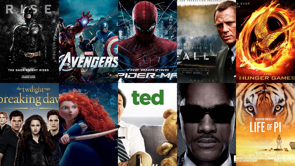 Top 10 Best Hollywood Movies of 2012