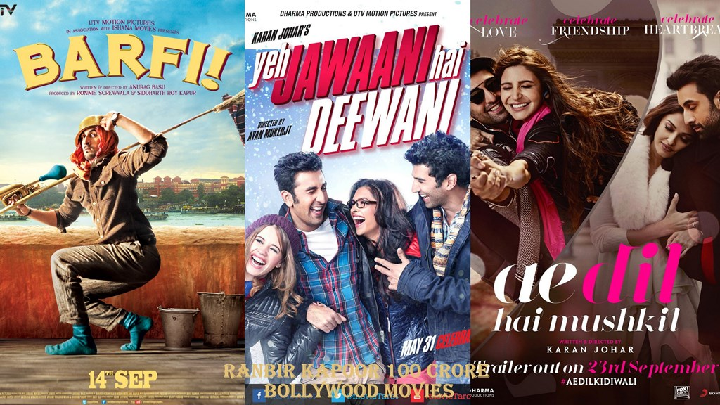 List of Ranbir Kapoor 100 Crore Bollywood Movies All Time ...
