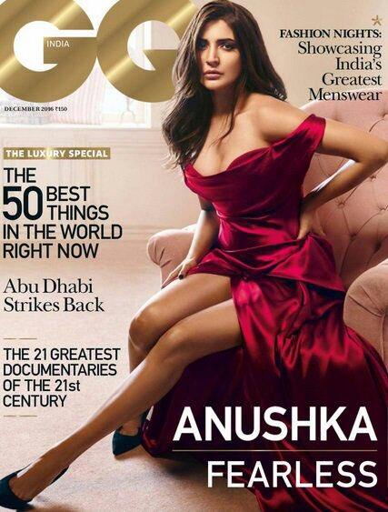 Anushka Sharma-Cover Of GQ India Magazine December 2016 Issue