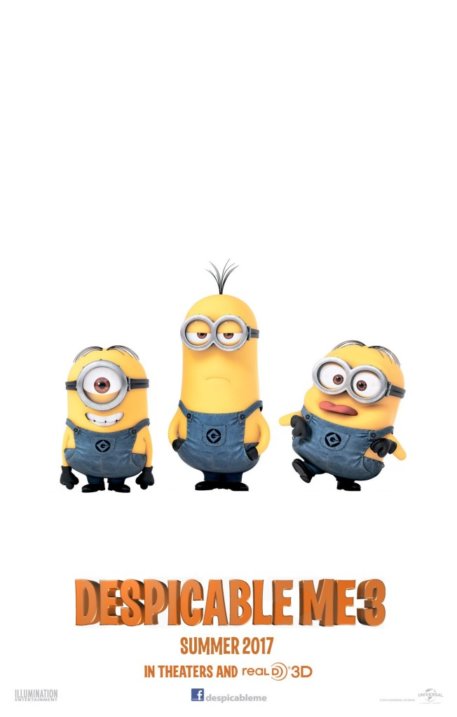 Despicable Me 3 Poster 3- India Release 2017