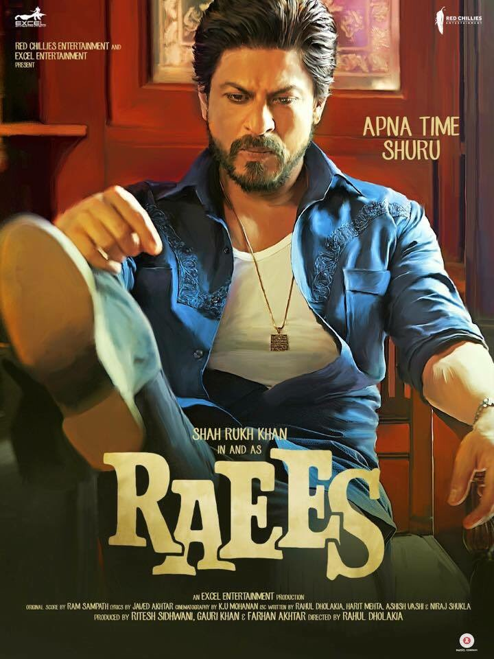 Raees New Poster- SRK Looks is Awsome