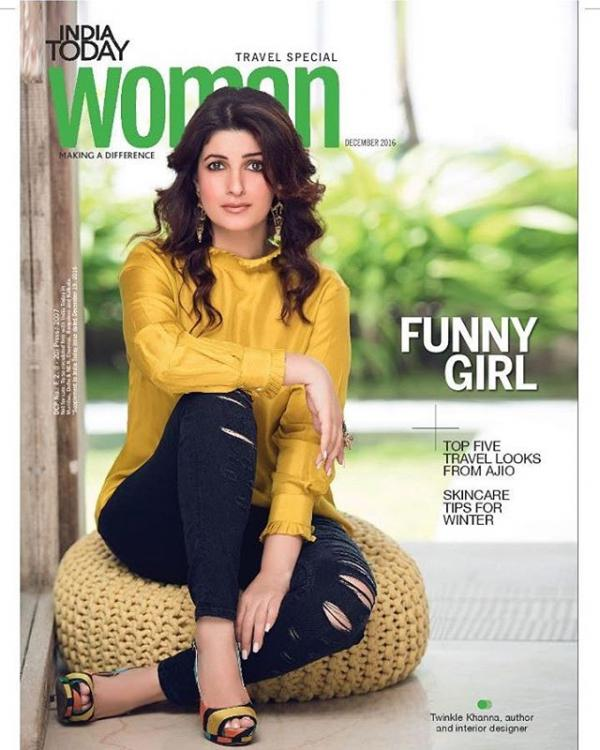 Twinkle Khanna on the cover of India Today Woman magazine's December 2016 issue