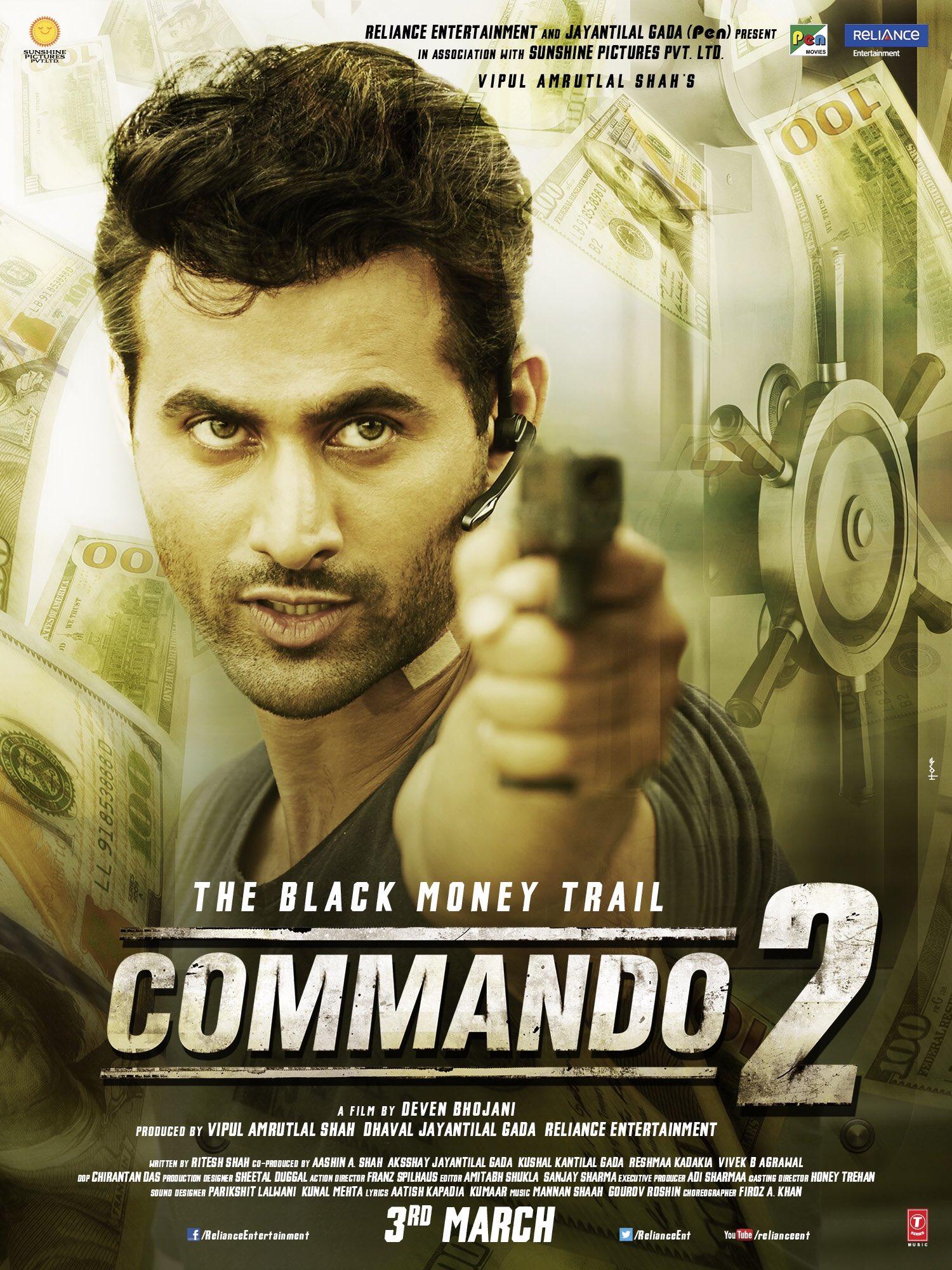 Commando 2 (2017) poster