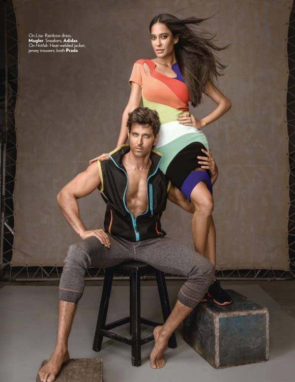 Hrithik Roshan & Lisa Haydon Vogue India Photoshoot January 2017 Picture 5
