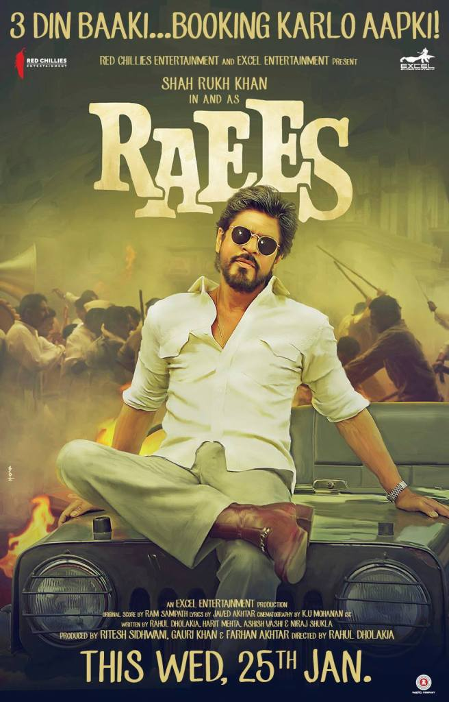 Raees Movie New Poster - India Release 2017