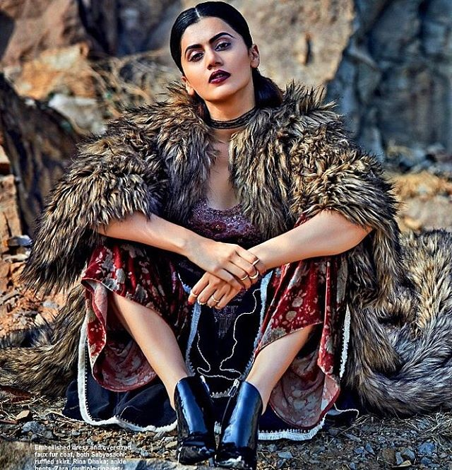 Taapsee Pannu Cover Photoshoot Of Cosmopolitan India Magazine January 2017 Image 5