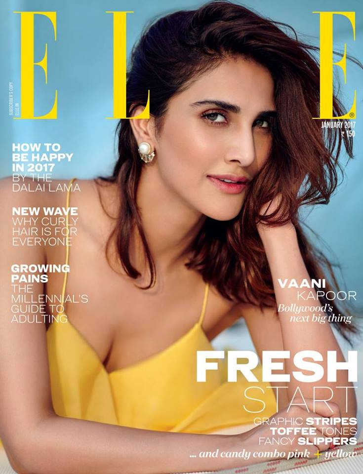 Vaani Kapoor On The Cover of Elle India Magazine January 2017